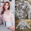 เสื้อผ้าเกาหลีพร้อมส่ง บอมเบอร์แจ็คเก็ตผ้าลูกไม้ลายดอกไม้ thumbnail 10