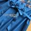 ชุดเดรสเกาหลี พร้อมส่งเดรสผ้าเดนิมบางปักลายดอกไม้สไตล์สาวคันทรี thumbnail 13