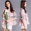 เสื้อผ้าเกาหลี พร้อมส่งเสื้อผ้าลูกไม้สีชมพูตกแต่งชั้นสไตล์วินเทจสุดหวาน thumbnail 9