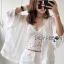 Jeanne Sweet Bohemian Embroidered Fringed White Tunic thumbnail 5