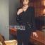 Rachel Smart & Golden buttons Sexy Black Dress thumbnail 5