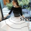 Two Pieces Of Stripes Sweater With Skirt Sets thumbnail 2
