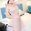 ชุดเดรสเกาหลีพร้อมส่ง Sweet Pinky Sensual Dress thumbnail 8