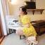 เสื้อผ้าเกาหลี พร้อมส่ง เดรสลูกไม้โครเชต์ ทอแน่นละเอียด thumbnail 4
