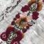ชุดเดรสเกาหลีพร้อมส่ง เดรสยาวผ้าลูกไม้สลับคอตตอนสีขาวปักลายดอกไม้สไตล์โบฮีเมียน thumbnail 7