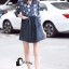 ชุดเดรสเกาหลีพร้อมส่ง Mira Lace Denim Cuite Dress thumbnail 2