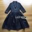 เสื้อผ้าเกาหลี พร้อมส่งเชิ้ตเดรสตกแต่งกระโปรงระบายเพบลัม thumbnail 19
