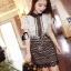ชุดเดรสเกาหลี พร้อมส่งSel# P$rtr@it Luxury Lace Mini Dress thumbnail 1