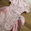 ชุดเดรสเกาหลี พร้อมส่งเดรสผ้าลูกไม้สีชมพูอ่อนตกแต่งระบายผ้าออร์แกนซ่า thumbnail 8