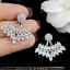 พร้อมส่ง Diamond Earring งานเพชร CZ แท thumbnail 2