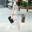 ชุดเดรสเกาหลี พร้อมส่งเดรสยาวผ้าลูกไม้สีขาวตัดต่อผ้าทูลล์สุดคลาสสิก thumbnail 4