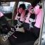 ชุดคลุมเบาะรถยนต์ลายการ์ตูนผู้หญิง (สีชมพู-ดำ) thumbnail 1
