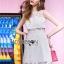 ชุดเดรสเกาหลี พร้อมส่งLady Mini candy lace dress thumbnail 1