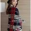 เสื้อผ้าเกาหลี พร้อมส่งเสื้อคลุมผ้นคอลายสก็อต thumbnail 6