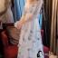 ชุดเดรสเกาหลี พร้อมส่งlong dress ผ้ามุ้งแขน 5 ส่วน thumbnail 7