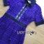 ชุดเดรสเกาหลี พร้อมส่งSelf-Portrait Scallop Edged Midi Dress in Burgundy thumbnail 10