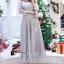 ชุดเดรสเกาหลี พร้อมส่งLong Dress -งดงาม สวยหรูและดูแพงมาก thumbnail 8