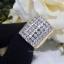 พร้อมส่ง Diamond Ring งานเพชรสวิส เพชร 7 แถวงานชุบ 5 ไมครอน thumbnail 4