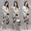 เสื้อผ้าเกาหลี พร้อมส่งWhite Shirt + Color Camo Pant Set thumbnail 2