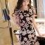 เสื้อผ้าเกาหลี พร้อมส่งSakura Pink Lace Netty Dress thumbnail 5