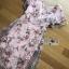 ชุดเดรสเกาหลี พร้อมส่งเดรสผ้าทูลเลปักดอกไม้กุหลาบสีชมพูทับลูกไม้สีชมพู thumbnail 13