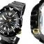 SEIKO SRP583K1 Seiko Monster Automatic นาฬิกาข้อมือผู้ชาย สีดำทอง สายสแตนเลส thumbnail 4