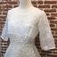 ชุดเดรสเกาหลี พร้อมส่งEmbroidered White Pearl Dress thumbnail 7