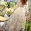 ชุดเดรสเกาหลี พร้อมส่งlong dress ผ้ามุ้งแขน 5 ส่วน thumbnail 6
