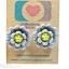 ต่างหูพลาสติก,ต่างหูก้านพลาสติก,ต่างหูเด็ก E29002 The Grey Flowers ต่างหู ราคาถูก thumbnail 1