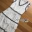 ชุดเดรสเกาหลี พร้อมส่งเดรสผ้าลูกไม้สีขาวจากแบรนด์Self-Portrait thumbnail 9