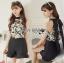 เสื้อผ้าเกาหลี พร้อมส่งLady Emily Floral Printout set thumbnail 8
