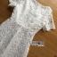 ชุดเดรสเกาหลี พร้อมส่งเดรสยาวผ้าลูกไม้สีขาวตัดต่อผ้าทูลล์สุดคลาสสิก thumbnail 15