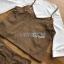 เสื้อผ้าเกาหลี พร้อมส่งเสื้อสายเดี่ยวกำมะหยี่ทับเสื้อแขนบานสีขาวและกระโปรงกำมะหยี่ thumbnail 8
