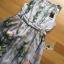 ชุดเดรสเกาหลี พร้อมส่งเดรสแขนกุดผ้าซาตินพิมพ์ลายดอกกุหลาบ thumbnail 15