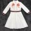 เสื้อผ้าเกาหลี พร้อมส่งเชิ้ตแนวเดรส สีขาวลายใหม่ผลิตออกมาให้ สวยเด่น thumbnail 11