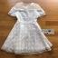 ชุดเดรสเกาหลี พร้อมส่งมินิเดรสผ้าชีฟองและทูลเลปักเลื่อมสไตล์เจ้าหญิง thumbnail 10
