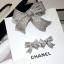 พร้อมส่ง Ribbon Brooch &Earring เข็มกลัด/ต่างหู ชาแนล โบว์ มี logo งานขายดีมาก ฝังCZแท้ thumbnail 5