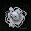 พร้อมส่ง Diamond Brooch เข็มกลัดดอกกุหลาบประดับมุก thumbnail 5