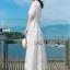 ชุดเดรสเกาหลี พร้อมส่งเดรสยาวผ้าลูกไม้สีขาวสไตล์ลำลอง thumbnail 8