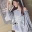 เสื้อผ้าเกาหลี พร้อมส่งเสื้อยาวผ้าชีฟองทรงเปิดไหล่ปักลูกไม้ thumbnail 8