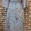 ชุดเดรสเกาหลีพร้อมส่ง เดรสลายดอก ผ้าเป็นผ้าชีฟอง ทรงเสื้อคลุม thumbnail 7