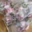 ชุดเดรสเกาหลี พร้อมส่งเดรสผ้าทูลเลปักดอกไม้กุหลาบสีชมพูทับลูกไม้สีชมพู thumbnail 14