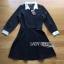 ชุดเดรสเกาหลี พร้อมส่งมินิเดรสผ้าชีฟองและผ้าคอตตอนสีดำตกแต่งปกขาว thumbnail 15