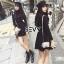 ชุดเดรสเกาหลี พร้อมส่งMini dress ไหมพรมลุคเรียบหรู thumbnail 4