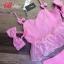 เสื้อผ้าแฟชั่นเกาหลี พร้อมส่งSET ผ้า tweed สีชมพูหวานน thumbnail 6