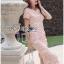 ชุดเดรสเกาหลี พร้อมส่งเดรสผ้าลูกไม้สีชมพูสไตล์เฟมินีนสุดเซ็กซี่ thumbnail 4