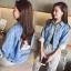 เสื้อผ้าเกาหลี พร้อมส่งสินค้าพร้อมส่ง เสื้อคลุมยีนส์ thumbnail 1