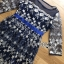 ชุดเดรสเกาหลี พร้อมส่งเดรสผ้าทูลเลสีน้ำเงินปักลายดอกกุหลาบสีทอง thumbnail 9