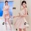 ชุดเดรสเกาหลีพร้อมส่ง Sweet Pinky Sensual Dress thumbnail 7