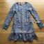 ชุดเดรสเกาหลี พร้อมส่งเดรสผ้าลูกไม้สีฟ้าตกแต่งชายระบาย thumbnail 9